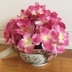 Hand Painted Decorative Bowl with Flowers